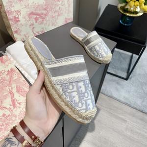 2020new Dior singoli uomini e donne originali classici di design di lusso di vendita calda piatte pantofole pistoni della spiaggia dei sandali per interni ed esterni
