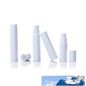 5ml의 화장품 사용 5ml를 10ml의 플라스틱 스프레이 향수 병 흰색 에어리스 로션 펌프 크림 병 비우기 10ML