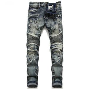 jeans para hombres 2020 pantalones vaqueros de la pierna populares de Europa y American Graffiti moda de otoño e invierno de los hombres pequeños de jeanMen delgado de la pierna para hombres en Europa