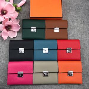 Femmes Portefeuilles Mode Litchi Motif en cuir véritable Ladies petit porte-monnaie carte d'identité individuelle Titulaire Zipper Pocket Wallet Coin Femme