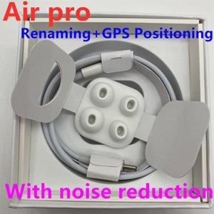 3 개 포드 무선 충전 이어 버드가 2019 프로 페어링 창 블루투스 헤드폰 자동 팝업 H1 이어폰 칩 GPS를 이름 바꾸기 에어 AP3가 TWS 세대 프로