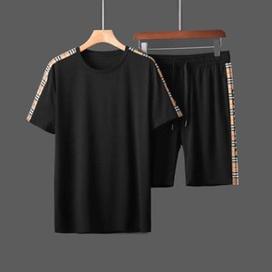 2020Mens Tracksuits T shirts Pants Suits 2pcs Clothing Sets Teenager Sports Suits