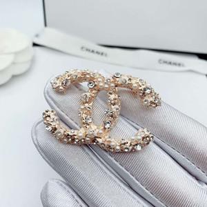 20 diamante nuevo creativo diseñador ramillete clásico de la perla antideslumbrante broche de regalo de vacaciones venta del envío de