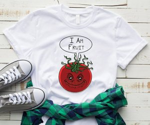 2020 I Am A Fruit Print Old Tomato Trend Fashion T Shits Popular Tops Exotic Thin Clothes Cotton Girl Tops Mother Cute Dress Fit