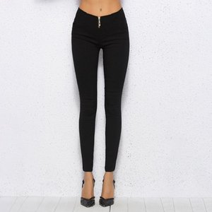 Women Pants 2020 Spring Fall New Skinny Black Pencil Pants Slim Casual Female Stretch Trousers White Solid Plus Size 4XL
