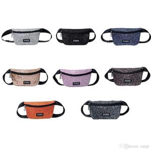 클래식 핑크 빅토리아 시크릿 허리 가방 미니 가방 장식 조각 패니 팩 방수 비치 가방 가방 여성 어깨