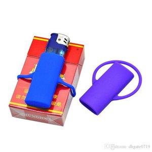 Farklı Renkler Yeni Silikon Çakmak Tasma Güvenli Stash Klip KeyChain Çakmak Tutucu kapak Güvenli Tutucu Renk Rastgele