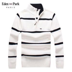 Eden Park cotone di marca maglione uomini maglioni casual Pull Homme lavorato a maglia Pullover dolcevita Mezza Zipper Maglieria Polo-Collare 7122 MX200711