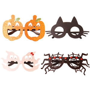 Halloween Eyeglasses Novelty Funny Glasses Pumpkin Spider Ghost Cat Shape Eyeglasses for Halloween Costume Party Prop Decorations