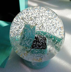 YENİ VIP Hediye! Snow Globe Halkalı Kutu İçinde Doğum Yenilik Noel için 2020 Önerisi Halka Kar Kristal Küre