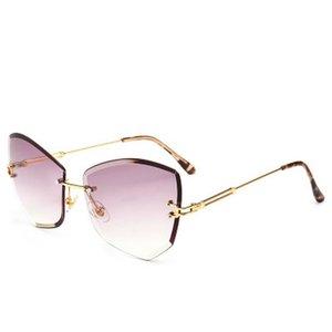 Street Shooting Wild Glasses Warblade Rimless Gold Clear Sunglasses Men Women 2018 Brand Designer Clear Sunglasses Big Frame Sexy Sun LYlBT