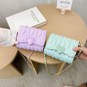 Ragazze Designer Mini Bags bambini del cuore di amore principessa Messenger Bag Kid Metalli catena una spalla del sacchetto di San Valentino Bambini borsa S387