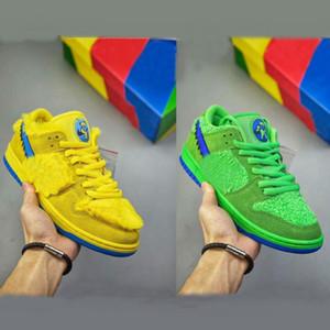 2020 oso paquete SB Dunk Low PRO CS hasta naranja amarillo verde Grateful Dead Mujeres Zapato de hombre zapatos casuales los hombres formadores de skate