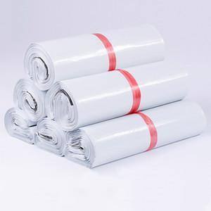 / Lot blanc 50pcs besaces express Enveloppe Sacs de rangement Sacs postales auto-adhésif Joint PE pochette en plastique d'emballage 24 Tailles