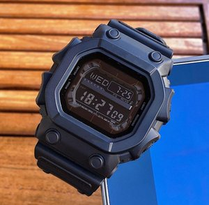 Homens Moda masculina Choque Top relógios de marca com Dial Square Luxo Data Digital LED automática Esporte pulso presente 56 Quartz G Relógios