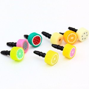 Iphone6 Plus Abdeckung Staub-Beweis-Stecker Anti-Staubkappe Kopfhörer Staubdichtes 3,5 mm Obst Serie Anti-Staub-Stecker
