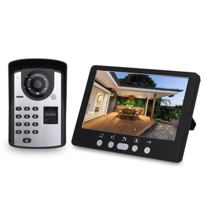 Fingerprint Password Remote Control HD Camera Video Door Phone Doorbell Intercom System 7 Inch Monitor IR Night Vision