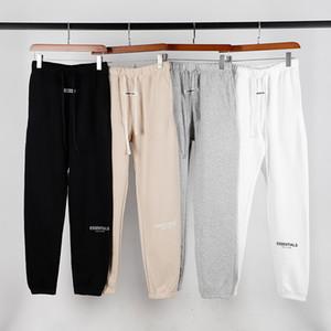 Autunno Inverno USA timore di Dio Essentials 6 ° 3M riflettenti ricamo pantaloni casual Nebbia pantaloni della tuta Uomo Donna Jogger Pants