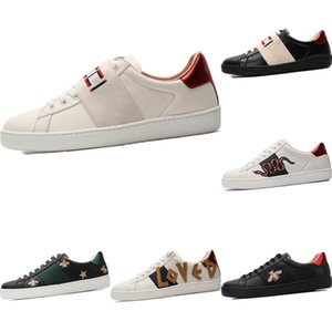 With Box 2020 Ace Embroidered Bee Low Top Athletic Shoes Original Ace Bee Embroidered Buffer Rubber Built-in Zoom Air Skateboard Shoes