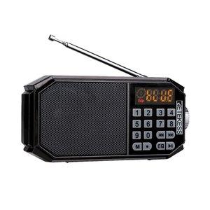 Retekess TR610 FM Radio Bluetooth Speakers Digital Radio Receiver MP3 Player Earphone Output LED Display Support TF Card U Drive Reading