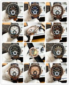 12 Estilo de lujo del reloj Boutique de la manera del reloj para hombre tallado retro Bisel Casual 316L completamente mecánico automático de goma de la correa de los hombres de 42 mm