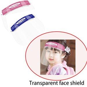 Доставка DHL, Дети Дети Безопасность Faceshield Прозрачная анфас крышка Защитная пленка Инструмент противотуманным Face Shield Дизайнерские Маски FY8017