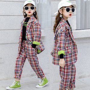 Teenage Girls Outfits Tracksuit Kids Suit for Girls Clothing Sets School Plaid Jackets Pants Suit 10 12 Year Boys Child Clothes cm3Q#