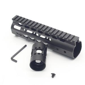7 인치 슬림 디자인 초경량 무료 플로트 Keymod 총열 덮개 모노 리식 상단 레일 스틸 배럴 너트 블랙 색상