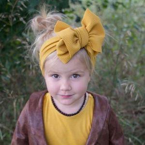 Childrens Hair Accessories Diy Fabric Hair Band Baby Hood Baby Headband Nylon Big Bow Knot Flower Hair Accessories For Weddings Pink diwsb