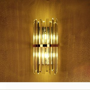 k9 crystal wall sconce bedroom wall lamp with switch livingroom dining bedroom led wall light Conference Hall hotel gold crystal lamps