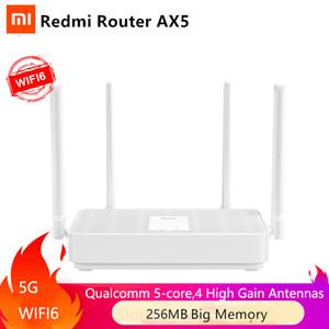 NOVO Xiaomi redmi Router AX5 WiFi 6 1800 5-Core Amplificador 256M de memória malha Início IoT 4 Sinal 2.4G 5GHz Ambos 2 Dual-Band OFDMA