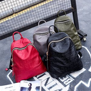 ABER Nesitu High Quality A4 New Fashion Black Red Green Grey Genuine Leather Cute Women's Backpacks Girl Travel Bag Female M66100