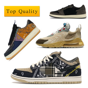 Air Force 1 Low sb dunk Travis Scott Cactus Jack Air Max 270 Jordan 1 Retro designer shoes 잭 남자는 상자와 ENG 스니커 레이스 업 슈즈 반응