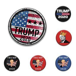 26 Stil Trump Badge Broschen Pins 2.020 US-amerikanische Wahlen Supplies Trump Badge Keep America Große Abzeichen YYA174