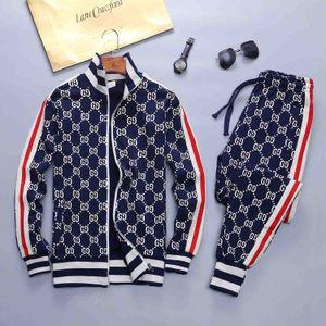 19SS heißen Verkauf Luxus Herrenmode Sportkleidung Buchstabedrucken Herren- und Damen-Sportbekleidung Jacke Anzug Reißverschluss Hosenanzug Jogging