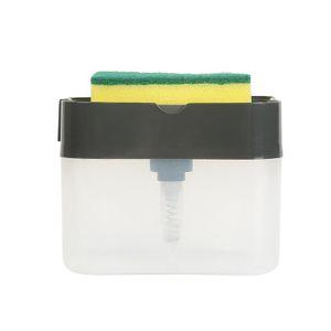 kitchen Detergent Detergent Storage Box Sponge Soap Dish Accessories Kitchen Cleaning Tools Automatic Liquid Box Scouring pad EEA1888