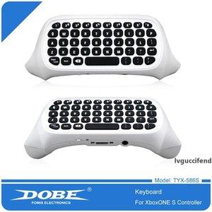Mais novo teclado DishyKooker DOBE TYX-586S XBOX One / Magro sem fio Game Controller com 3. 5MM Headphone Jack DHL frete grátis