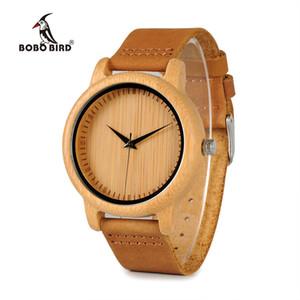 BOBO BIRD Timepieces Bamboo Couples Montres Lovers main en bois naturel luxe Montres-bracelets Idéal cadeaux Articles OEM Drop Shipping CX200720