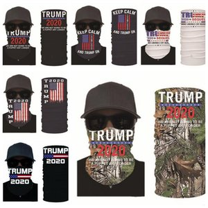Trump Masken US-amerikanische Wahlen Printing Turban Magie Suncreen Kerchief Kopfbedeckungen Dustpoof Scarve Außen Waschbar wiederverwendbarer Maske LSK588