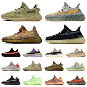 Kanye West Boost V2 OFF WHITE Kanye West Top qualité chaussures de course hommes femmes baskets de sport Yecheil Cloud White Black Clay Reflective Formateurs Glow Blue