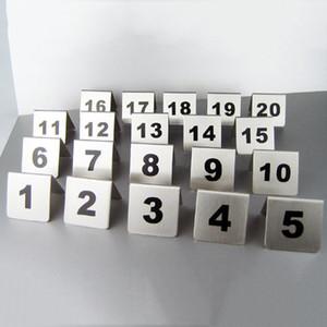 Numero all'ingrosso 1-100 Numbers in acciaio inox Tavolo Carte metallo Numero Signage Tabella segno di carta Ristorante Hotel Cafe Bar Strumenti DBC DH0595
