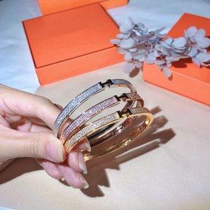 Designer bracelet luxury ious women's men's bracelet, high-end diamond bracelet high-end sub-gold material gold-plated 18K gold bracelet, si
