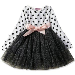 Baby Girl Dress Long Sleeve Toddler Girl Clothing For School Party And Wedding Kids Clothes Princess Floral Dresses 2-8Yrs