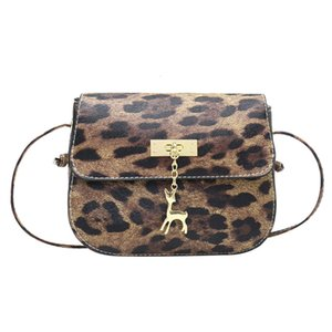 Mini Leopard Impreso mujeres de la manera Handsbags cervatillo de piel de un hombro bolsa de teléfono celular de la cremallera Amp; Plaza del cerrojo de las señoras de bolsos del mensajero