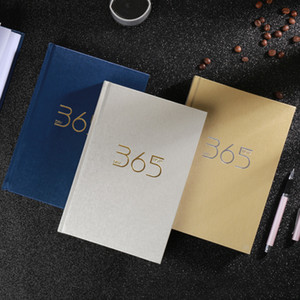 365 Fashion Leather Plan Book Thicken Calendar Book A5 Creative PVC Paper Notebook Stationery