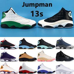 New Jumpman 13 chaussures de basket-ball 13s vert chanceux inverse il a obtenu jeu silex aire de jeux hyper rose chat noir hommes bas chutney Sneakers