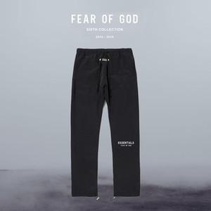 الخوف من الله سروال الضباب 3M الرباط يعكس النايلون سراويل سروال أساسيات الصلبة سروال فضفاض ربيع الخريف أزياء الرجال الرياضة عارضة