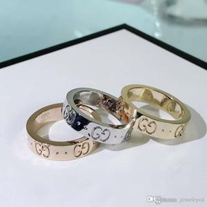Лучшие продажи нового письма моды простой пара дизайнер кольцо роскошь дизайнер ювелирных изделий женщин кольца