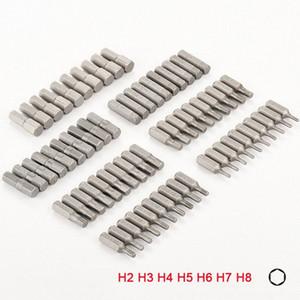 홈 손 공구강 육각 드라이버에 대한 10PCS 1/4 인치 육각 생크 H2 H3 H4 H5 H6 H7 H8 스크류 드라이버 비트 세트 VWcV 번호를 비트