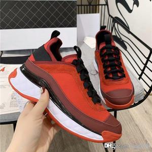 printemps été nouveaux lacets en cuir épais bas de petites chaussures blanches chaussures de sport femmes ont augmenté chaussures de running sport sauvage rouge net